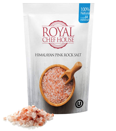 Himalayan Pink Salt 2 LBS Coarse Grain Bulk Bag - Premium Quality - 100% Natural