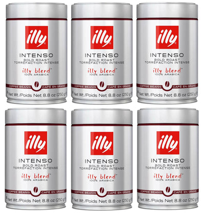 Illy Caffe Whole Bean Dark Roast Coffee 250g (6-pack)