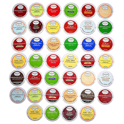 Blue Ribbon TWININGS K CUPS Tea Sampler Box, 40 COUNT Variety Sampler Pack for Keurig K-Cup Brewers
