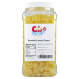 Claey's Sanded Lemon Drops, In Jar, 6 Lbs