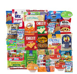 Blue Ribbon Snack Care Package - 45 Count - Ultimate Sampler Mixed Bars, Cookies, Chips, Candy and Snacks Box