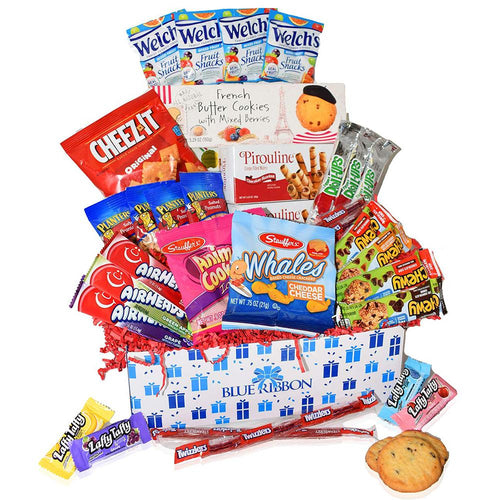 Valentine's Day Care Package Gourmet Assortment with Candy, Chocolate, Crackers, Snacks and French Cookies