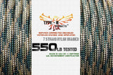 Type-III 7 Strand 550 Cord in Camo and Two-Tone Patterns (25, 50, 100 ft Hanks)