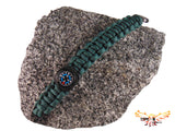 Type-III 7 Strand 550 Paracord Bracelet with Compass in Solid Colors