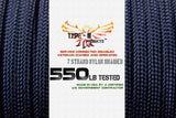 Type-III 7 Strand 550 Cord in Solid Colors (25, 50, 100 ft Hanks)