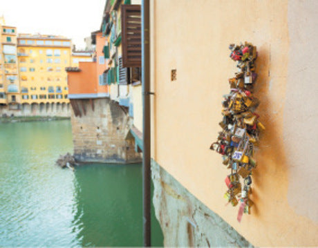 Florence / Italy  love padlock place