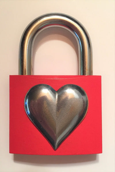 Liebesschloss MyLoveLock two red