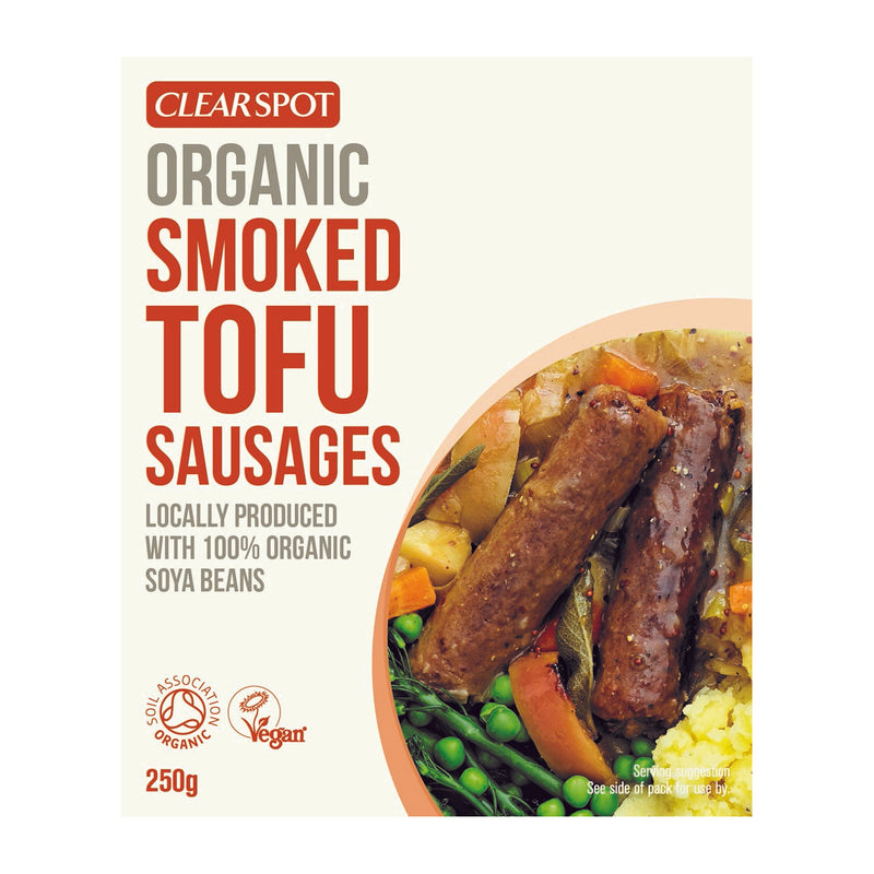 (USE BY 20/07/2020) Clearspot - Organic Smoked Tofu Sausages (250g)