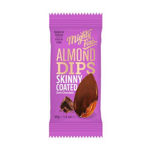 Mighty Fine - Skinny Coated Dark Chocolate Almond Dips (35g)