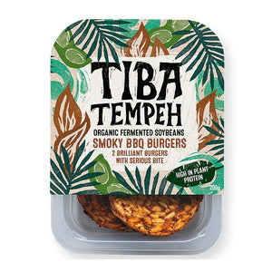 (BEST BEFORE 13/08/2020) Tiba Tempeh - Organic Smoky BBQ Burgers (200g)
