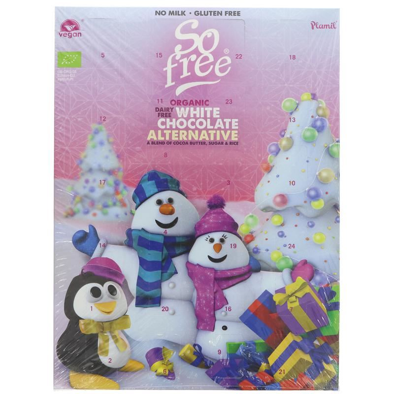 20% off! Plamil - So Free White Choc Advent Calendar (110g) - TheVeganKind