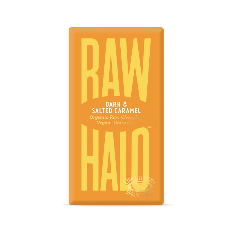 Raw Halo - Dark & Salted Caramel Organic Raw Chocolate (35g)