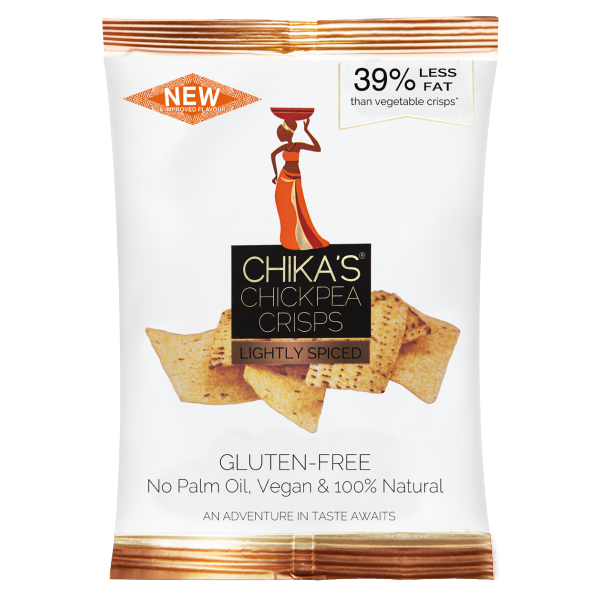 (Best Before 14/10) Chika's Chickpea Crisps - Lightly Spiced (35g) - TheVeganKind