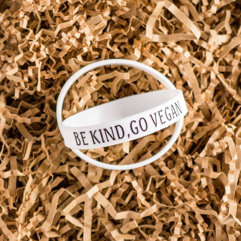 Accessories - 'Be Kind, Go Vegan' Wristband
