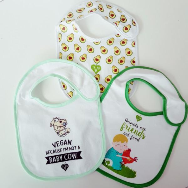 Baby Care - Vegan Baby Bibs (3 Pack)
