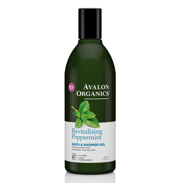Bath Foam & Shower Gels - Avalon Organics Revitalising Peppermint Bath & Shower Gel (355ml)