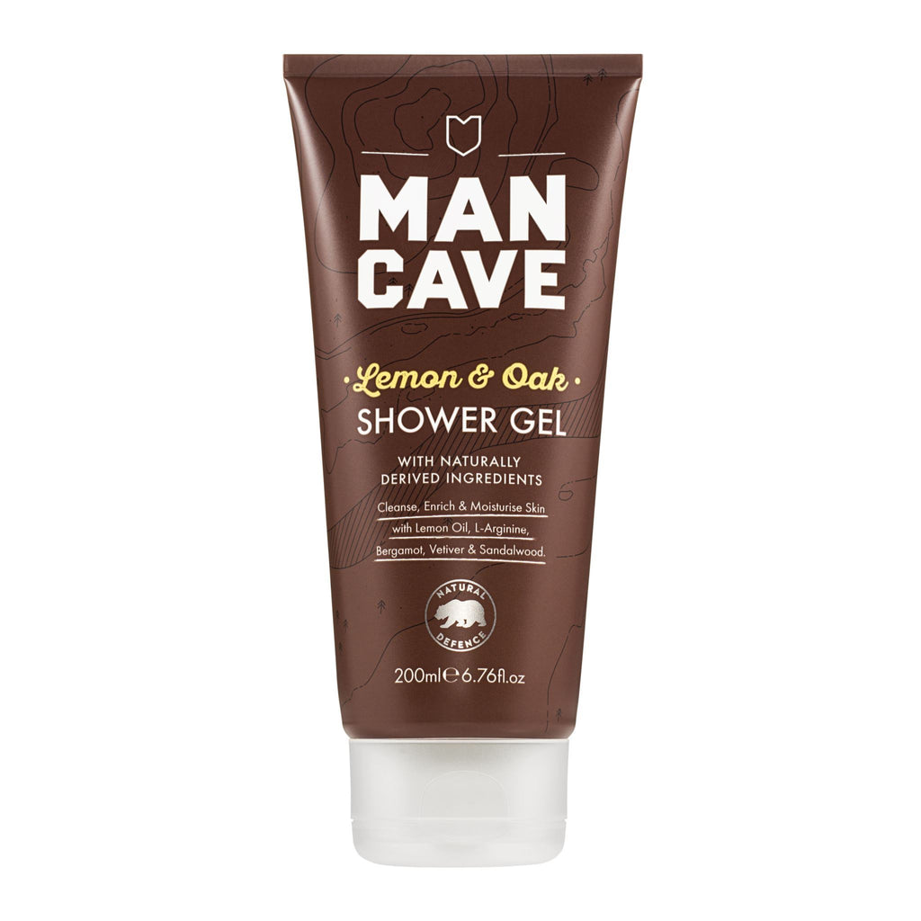 Bath Foam & Shower Gels - ManCave - Lemon & Oak Shower Gel (200ml)