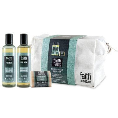 Faith In Nature For Men Blue Cedar Gift Set - TheVeganKind