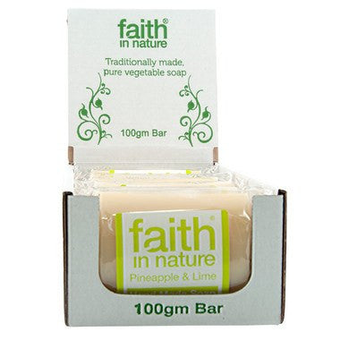 Bathroom - Faith In Nature Hand Made Soap, Pineapple & Lime.