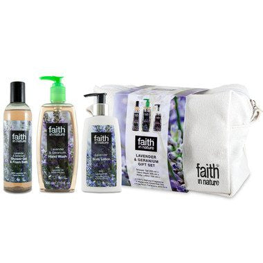 Faith In Nature Lavender & Geranium Gift Set - TheVeganKind