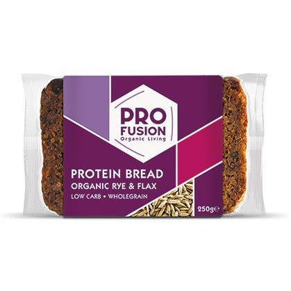 Bread & Rolls - Pro Fusion Protein Bread With Organic Rye & Flax (250g)