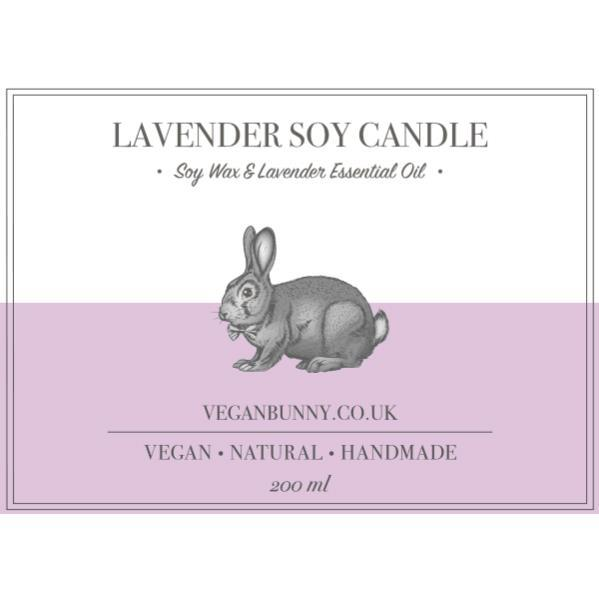 Candles - Vegan Bunny - Lavender Soy Candle