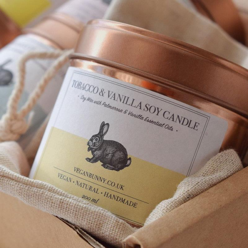 Candles - Vegan Bunny - Tobacco & Vanilla Soy Candle