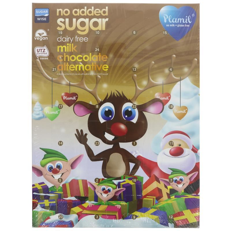 (80% off!)! Plamil - Milk Chocolate Alternative Advent Calendar (110g) - TheVeganKind