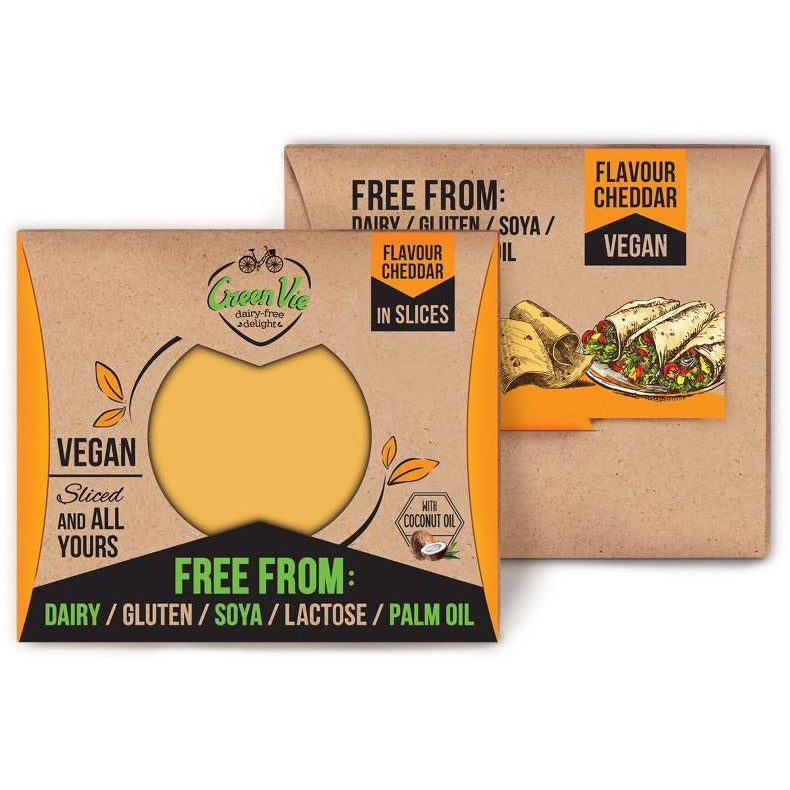 Cheeses - Green Vie Slices, Cheddar Flavour (180g)