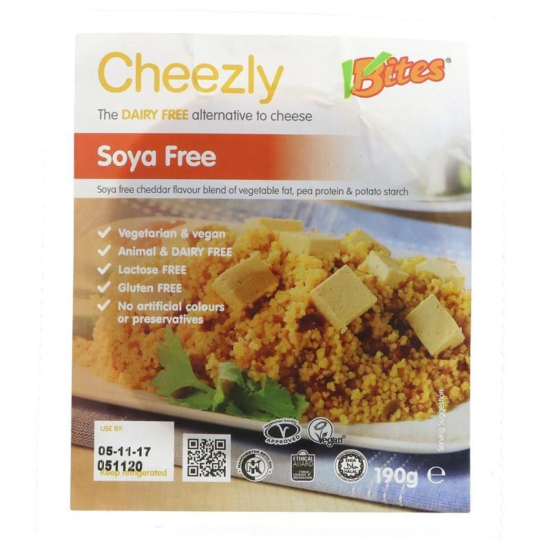 Cheeses - VBites - Cheezly Cheddar Style - Soya Free (190g)