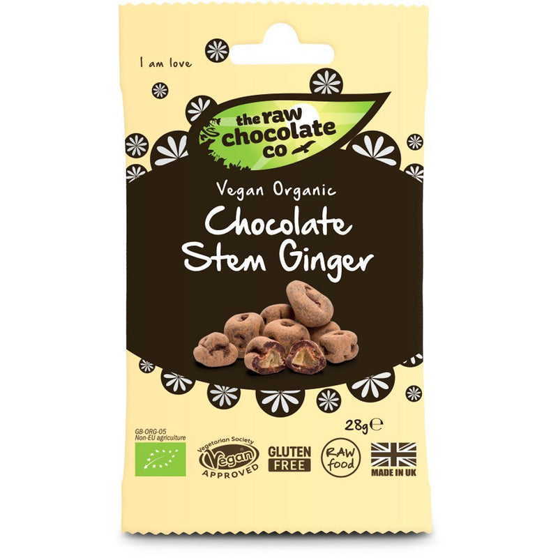 Chocolate Covered Snacks - The Raw Chocolate Co - Raw Chocolate Ginger (28g)