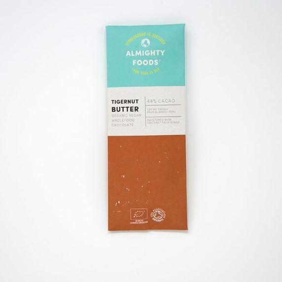 Chocolates/Bars - Almighty Foods - Organic Vegan Wholefood Chocolate - Tigernut Butter (30g)