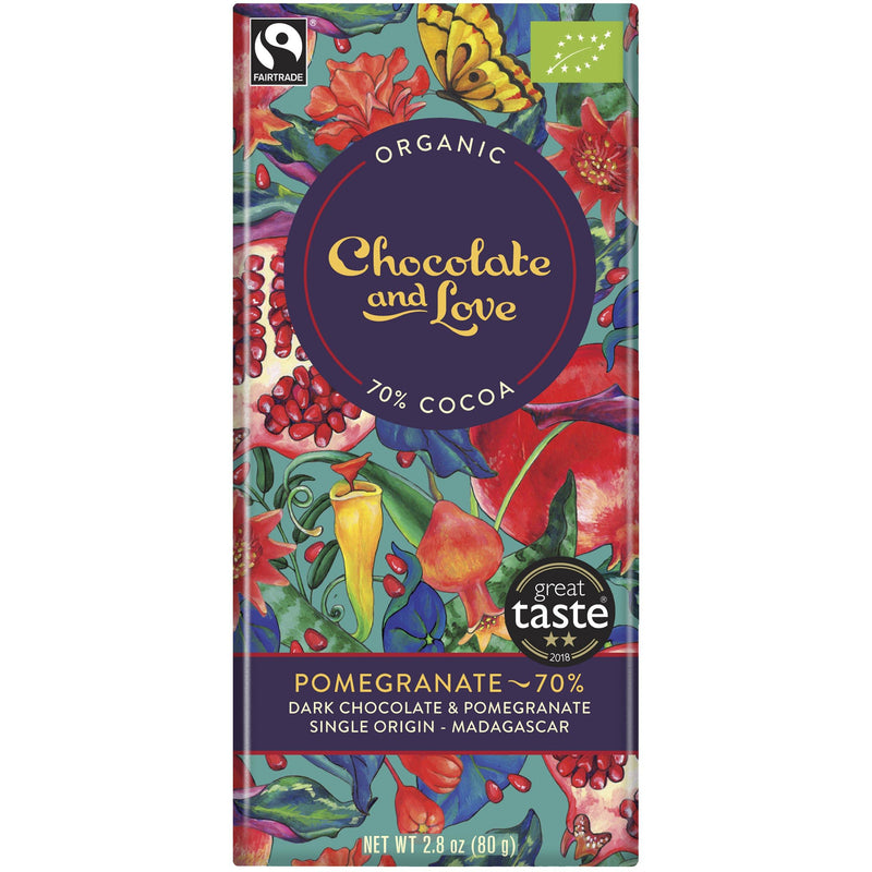 Chocolate And Love Pomegranate 70 Chocolate 80g