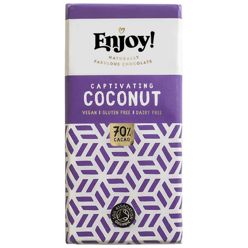 Chocolates/Bars - Enjoy Chocolate - Coconut Chocolate Bar (70g)