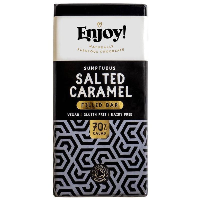 Chocolates/Bars - Enjoy Chocolate - Salted Caramel Filled Chocolate Bar (70g)