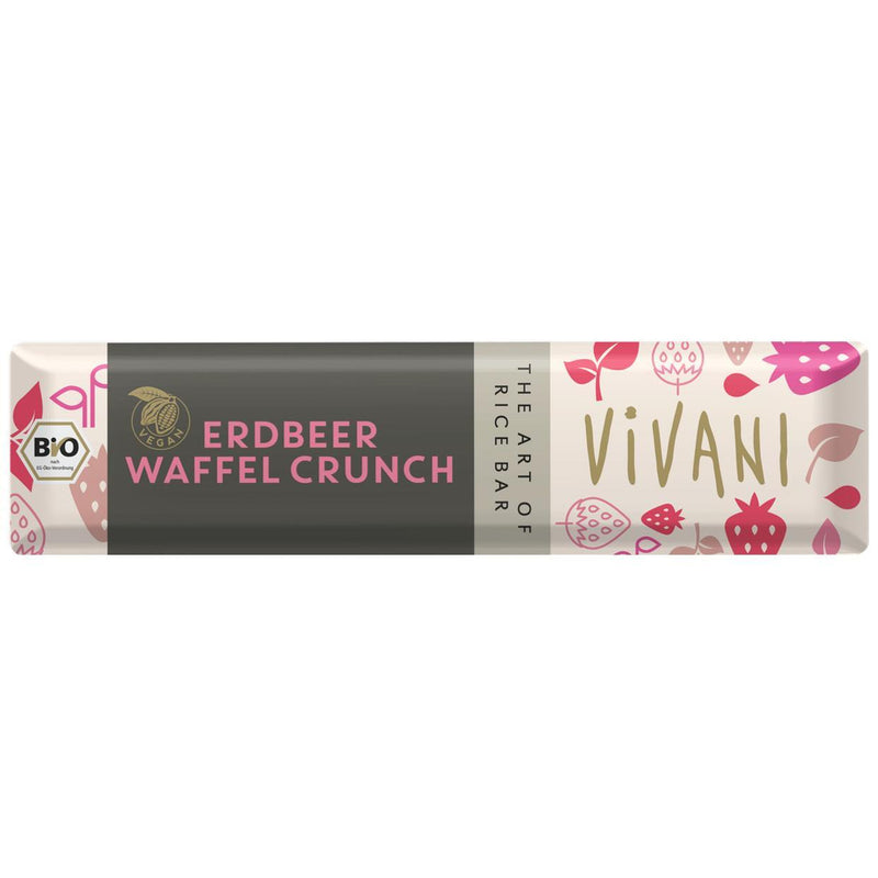 Chocolates/Bars - Vivani - Organic Strawberry Wafer Crunch (35g)