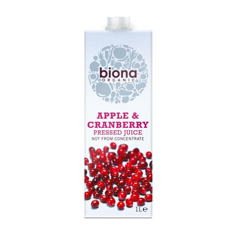 Cold Drinks - Biona Organic - Organic Apple & Cranberry Juice (1L)