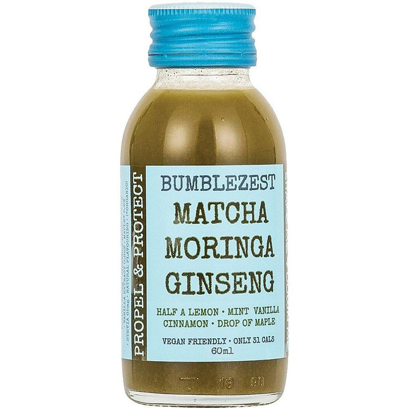 Cold Drinks - BumbleZest - Propel & Protect Matcha Moringa & Ginseng Juice Shot (90ml)
