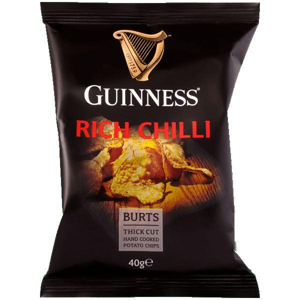 Crisps, Chips & Popcorn - Burts - Guinness Rich Beef Chilli (40g)