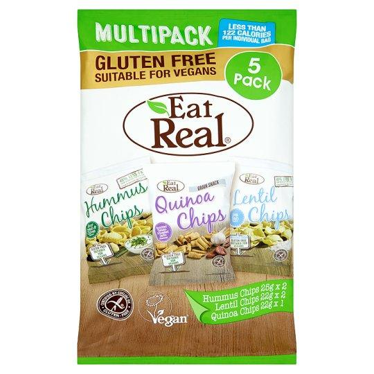 Crisps, Chips & Popcorn - Eat Real - Hummus, Lentil And Quinoa Chips Multi-Pack (5 Pack - 116g)