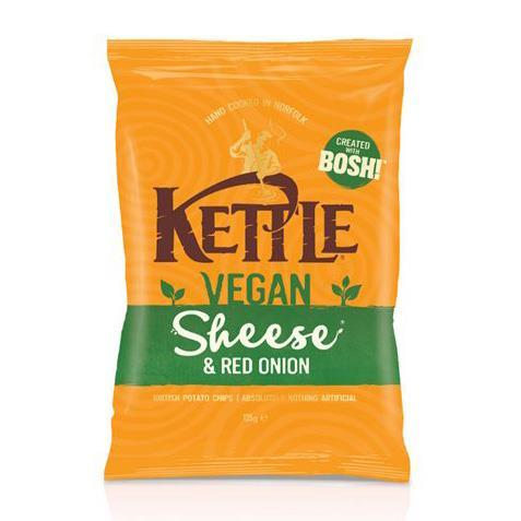 Crisps, Chips & Popcorn - Kettle Chips - Sheese & Red Onion Crisps (135g)