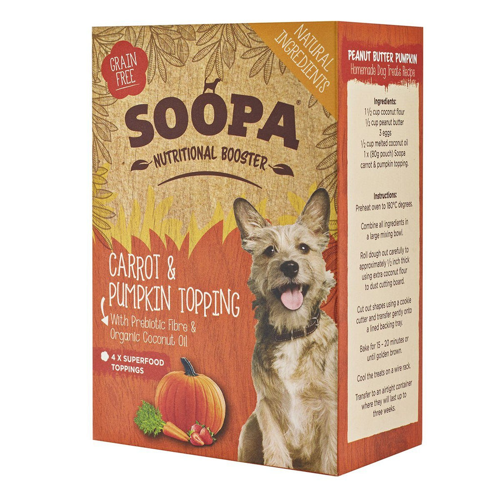Dog Food - Soopa Nutritional Booster (Various) (4x80g Wet Food Pouches)