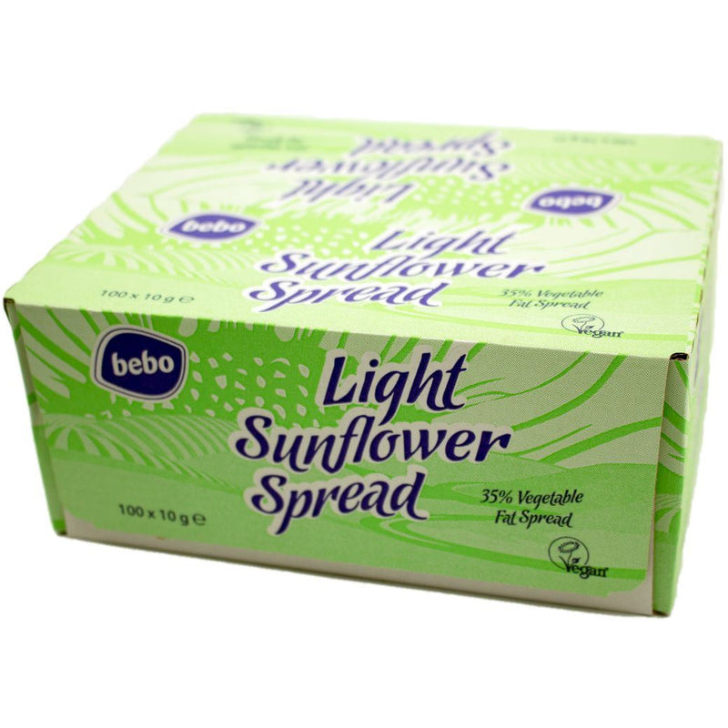 Dressings, Dips, Sauces, Spreads - Bebo - Light Sunflower Spread Portions (100x10g)
