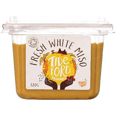 Dressings, Dips, Sauces, Spreads - Tideford - Organic Fresh White Miso Paste Tub (320g)