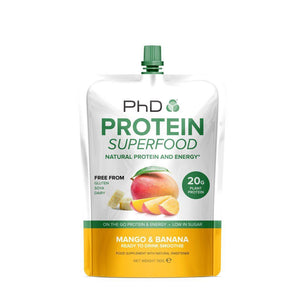 (BEST BEFORE 31/08/2020) PhD - Protein Superfood Smoothie Pouch - Mango & Banana (130g)