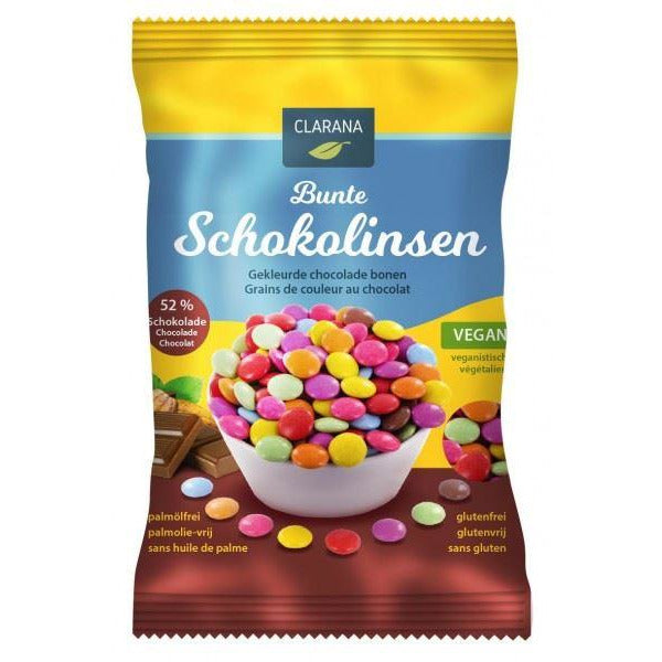 Clarana - Colourful Chocolate Beans (125g) (Smarties alternative) - TheVeganKind