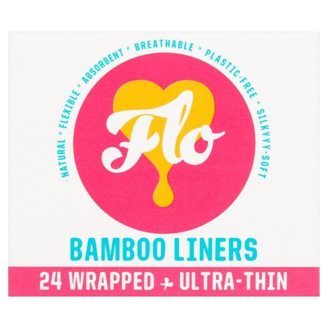 Feminine Hygiene - Flo - Natural Bamboo Liners, Wrapped, Ultra-Thin (59g)