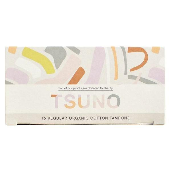 Feminine Hygiene - Tsuno - Organic Cotton Tampons - Regular (Pack Of 16)