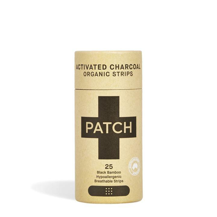 First Aid - Patch - Organic Bamboo Biodegradable Plasters - Activated Charcoal (25 Plasters)