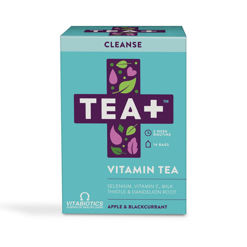 Hot Drinks - 10% Off Introductory Offer! TEA+ Vitamin Tea - Cleanse (14 Teabags)